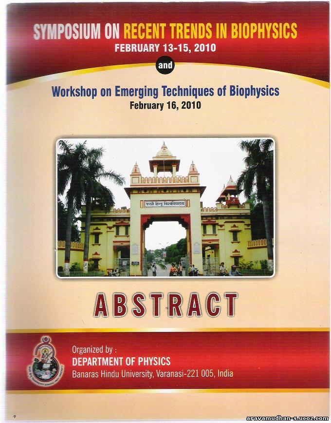 Cover page of IBS2010 Abstract book: Click on image for enlarged view
