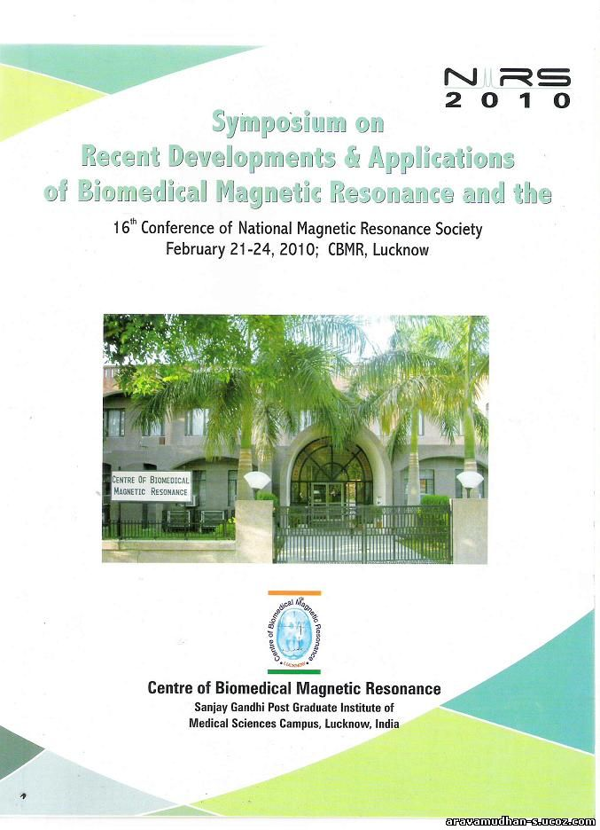Cover page of NMRS2010 Abstract book: Click on image for enlarged view